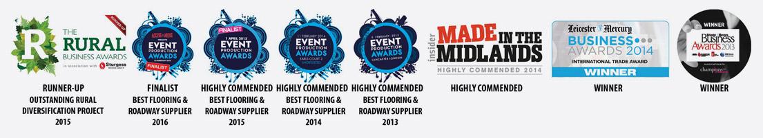 ecotrackway-award-logos